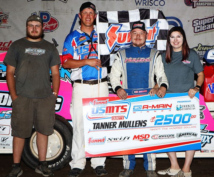 Tanner Mullens in victory lane. (USMTS photo)