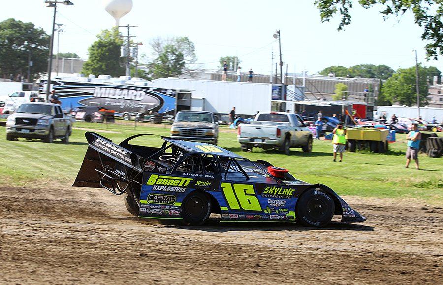 Tyler Bruening on track Sunday at West LIberty Raceway. (Mike Ruefer Photo)