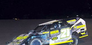Derek Losh raced to the modified win on Friday night at Gas City I-69 Speedway.