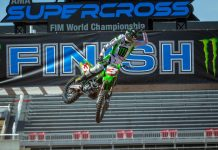 Eli Tomac wrapped up his first Supercross title Sunday in Salt Lake City. (Feld Entertainment photo)