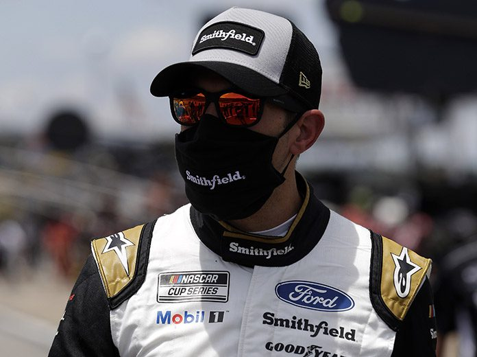 Aric Almirola will start from the pole during Saturday's NASCAR Cup Series race at Pocono Raceway. (HHP/Harold Hinson Photo)