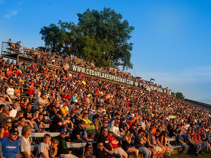 The World of Outlaws will offer race fans attending the upcoming tripleheader event at Cedar Lake Speedway free COVID-19 testing prior to entering the facility. (WoO Photo)