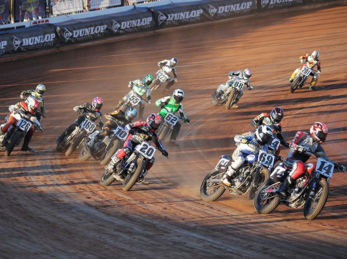 American Flat Track will return to The Dirt Track at Charlotte on Oct. 9-10, the same weekend that NASCAR will compete across the street at Charlotte Motor Speedway. (Adam Fenwick Photo)