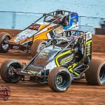 Keith Martin (79x) won Friday's ASCS Elite Non-Wing Series feature at Monarch Motor Speedway. (DrRock's Photography)