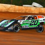 Jimmy Owens, shown at 411 Motor Speedway, earned his fourth straight Lucas Oil Late Model Series victory Saturday at the Talladega Short Track. (Michael Moats photo)