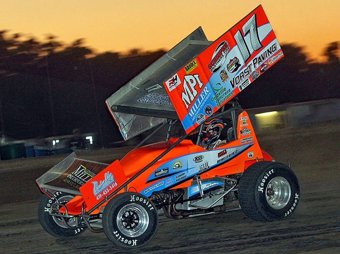 Jared Hortsman raced to victory in Saturday's Great Lakes Super Sprints at Crystal Motor Speedway. (Jim Denhamer Photo)
