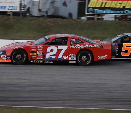Wayne Helliwell Jr., seen here in this file photo, captured the Oxford 150 on Sunday at Oxford Plains Speedway. (Daniel Holben photo)