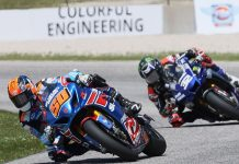Bobby Fong (50) won the first HONOS Superbike race of his career on Sunday at Road America, the M4 ECSTAR Suzuki rider holding off Jake Gagne to earn the victory. (Brian J. Nelson Photo)