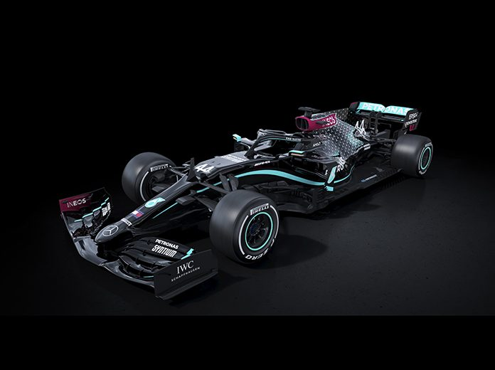 Mercedes will utilize a black livery for the upcoming Formula One season.