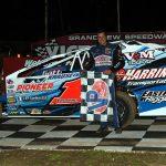 Craig Von Dohren in victory lane Saturday at Grandview Speedway. (Rich Kepner Photo)