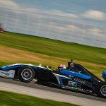 Danial Frost was fastest in Indy Pro 2000 testing Monday at the Mid-Ohio Sports Car Course.