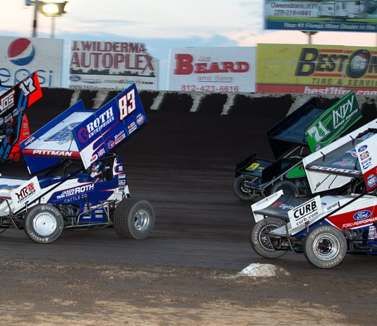 The World of Outlaws will include Elimination Showdowns for Thursday's two-division program at Cedar Lake Speedway. (Trent Gower photo)