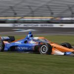 Scott Dixon was fastest in the morning warmup session prior to the GMR Grand Prix on Saturday at the Indianapolis Motor Speedway road course. (IndyCar Photo)