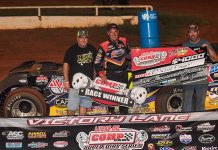 Billy Moyer pocketed $4,000 for his win in Friday's COMP Cams Super Dirt Series race at Lone Star Speedway.