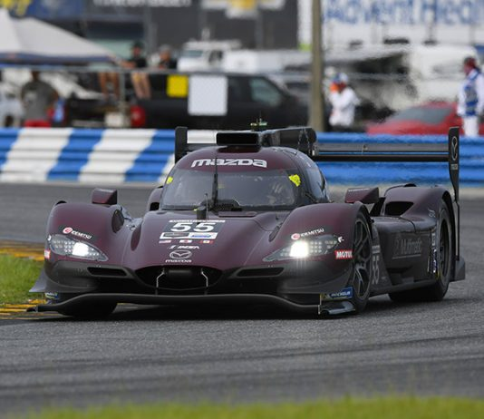 Jonathan Bomarito and Harry Tincknell put the Mazda DPi program back in victory lane Saturday at Daytona Int'l Speedway. (IMSA Photo)