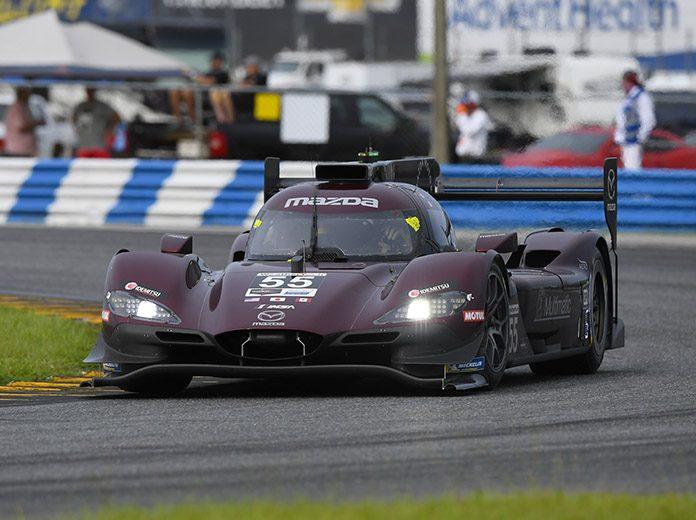 Jonathan Bomarito and Harry Tincknell put the Mazda DPi program back in victory lane Saturday at Daytona Int'l Speedway. (IMSA Photo)