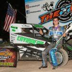 Chase McDermand won the 25-lap Badger Midget Racing Series feature Saturday at Beaver Dam Raceway. (Bob Cruse photo)