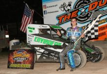 Chase McDermand won the 25-lap Badger Midget Racing Series feature Saturday at Beaver Dam Raceway. (Bob Cruse photo)