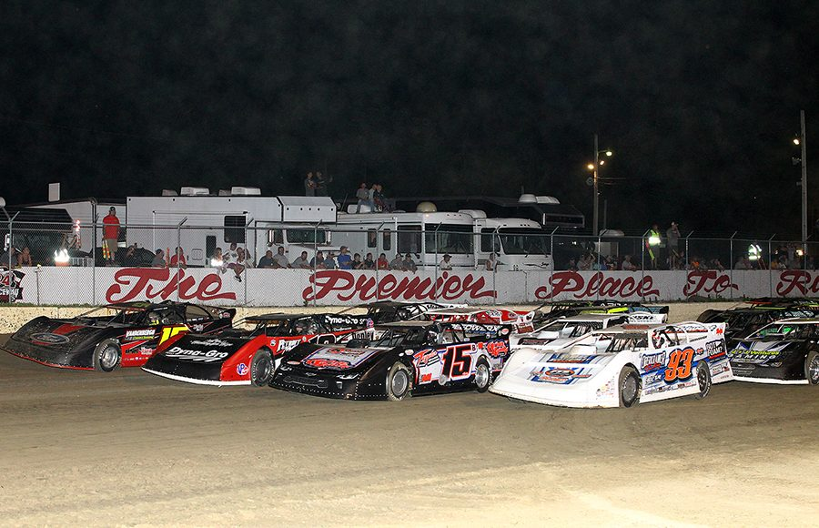 The field for Friday's Lucas Oil MLRA Slocum 50 prepares to go racing at 34 Raceway. (Mike Ruefer Photo)