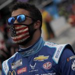 Bubba Wallace was the target of a tweet from President Donald J. Trump on Monday morning. (HHP/Andrew Coppley Photo)