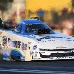 John Force Racing, led by team owner and driver John Force, will not compete this weekend at Lucas Oil Raceway when the NHRA returns to competition. (NHRA Photo)