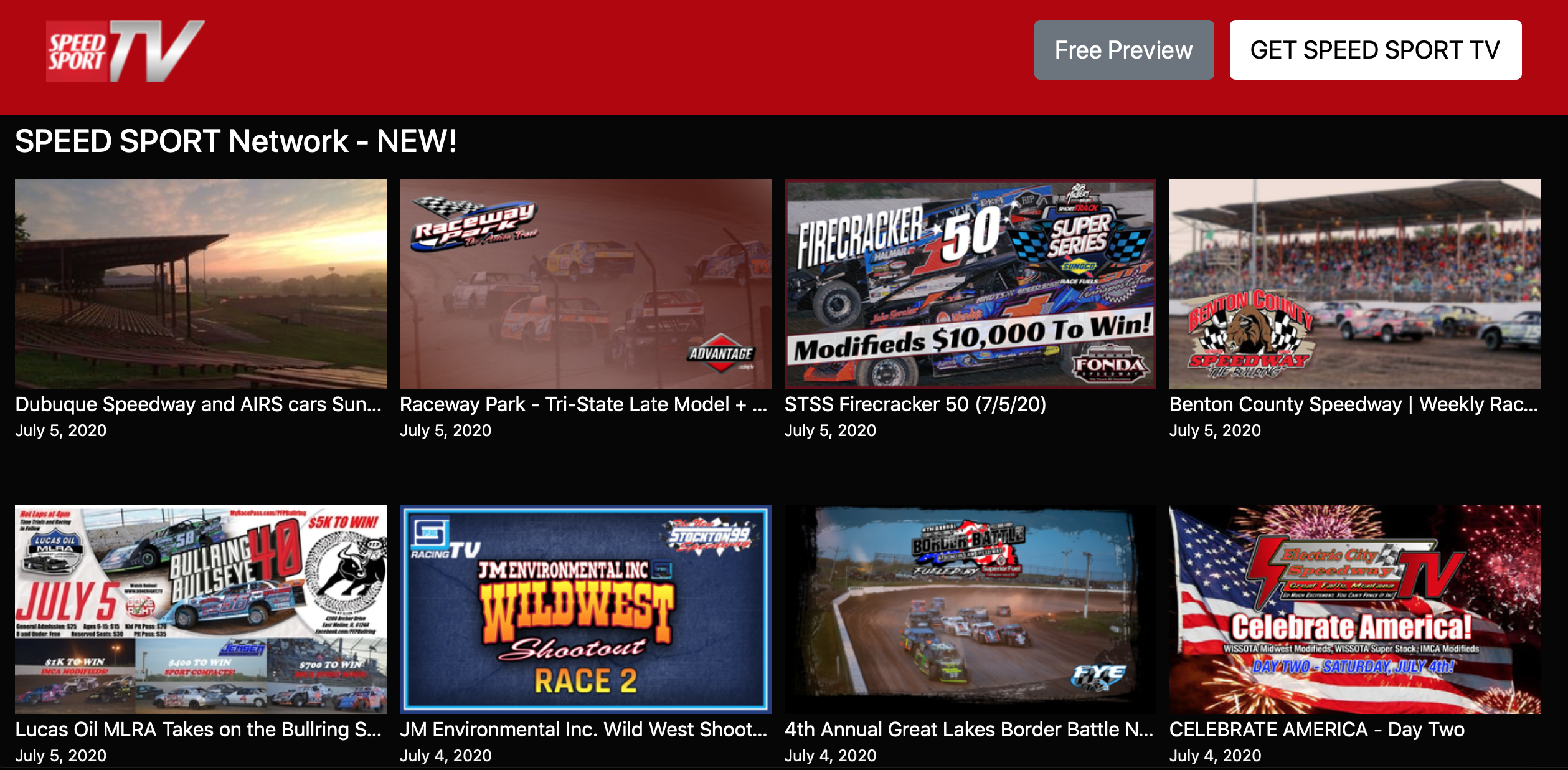 Speed Sport Tv More Than 40 Fresh Races Available To Watch Now Speed Sport