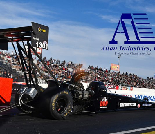Allan Industries will support Foley Lewis Racing during the E3 Spark Plugs NHRA Nationals in Indianapolis.