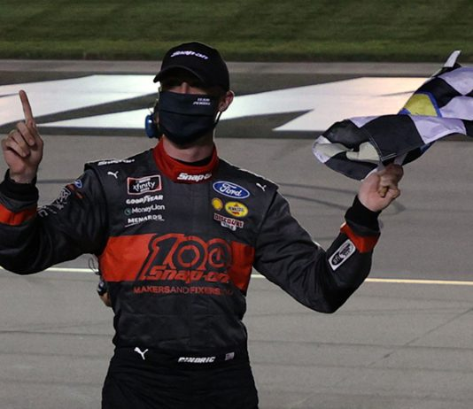 Austin Cindric topped Thursday's NASCAR Xfinity Series race at Kentucky Speedway. (Rob Carr/Getty Images Photo)