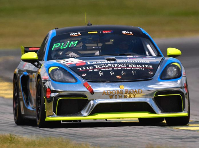 Spencer Pumpelly led every lap of Friday's Pirelli GT4 America event at Virginia Int'l Raceway.
