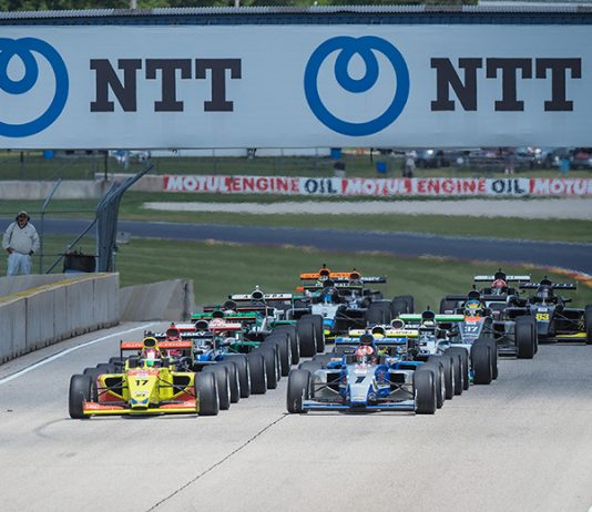 Danial Frost and Artem Petrov each won an Indy Pro 2000 event Friday at Road America.