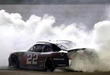 Austin Cindric put on a clinic to win his second NASCAR Xfinity Series race in as many days on Friday at Kentuckiy Speedway. (Jared C. Tilton/Getty Images Photo)