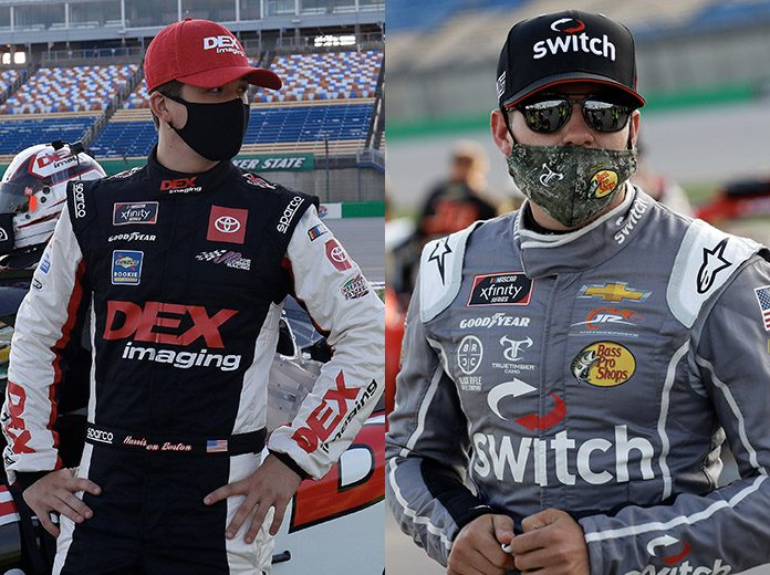 Harrison Burton (left) and Noah Gragson (right) came to blows following an on-track incident Friday at Kentucky Speedway. (HHP Photos)