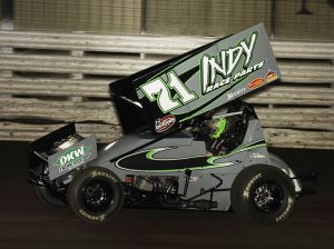 Kevin Swindell was seriously injured in a crash during the 2015 Knoxville Nationals. (Mark Funderburk Photo)