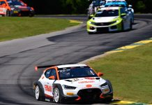 Tyler Maxson raced to another victory in the TC America TCR class on Saturday.