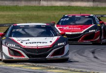 Racers Edge Motorsports controlled Saturday's GT World Challenge America event at Virginia Int'l Raceway.