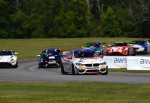 Bill Auberlen and James Walker Jr. topped Saturday's Pirelli GT4 America event at Virginia Int'l Raceway.
