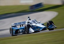 Josef Newgarden looked well on his way to victory on Saturday at Road America until a bad pit stop derailed his day. (IndyCar Photo)