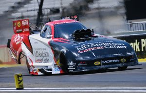Tommy Johnson Jr. led the Funny Car class Saturday at Lucas Oil Raceway. (Shawn Crose Photo)