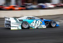 Shawn Balluzzo died after a crash at Langley Speedway on Saturday night. (Dinah Mullins Photo)