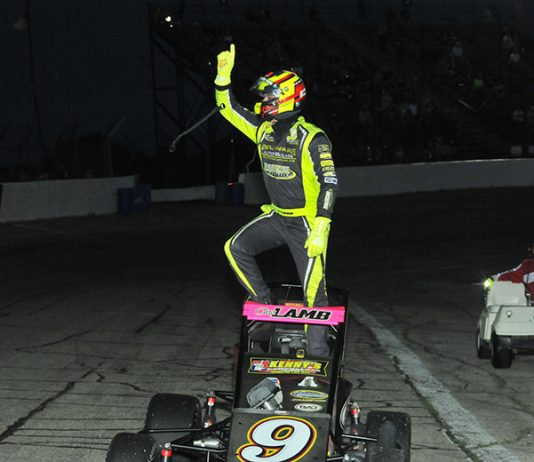 Chris Lamb was the winner of the Kenyon Midget Classic Saturday at Anderson Speedway. (Randy Crist Photo)
