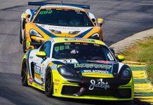 Jason Hart and Matt Travis drove the No. 47 entry to victory in Sunday's Pirelli GT4 America SprintX event.