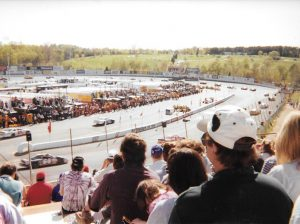 Fans packed the stands for what turned out to be the final NASCAR Busch Series race at Hickory Motor Speedway in 1998. (Pete McCole Photo)