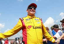 Michael McDowell will start on the pole for the NASCAR Open that will precede the NASCAR All-Star Race. (HHP/Tami Pope Photo)