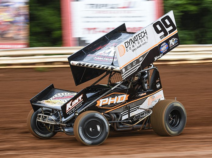 Kyle Moody is taking time off after suffering a concussion during a recent race at Port Royal Speedway. (Dan Demarco Photo)