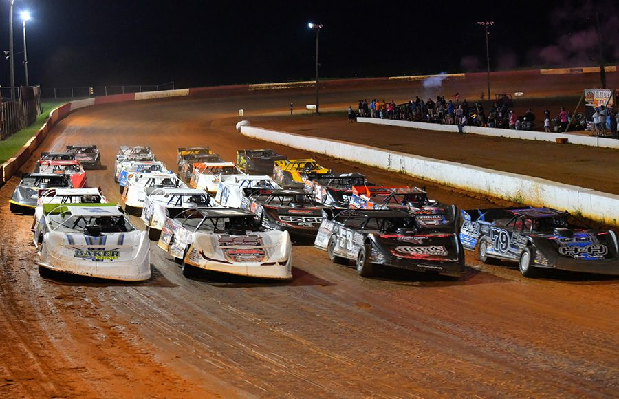 The field for Friday's Schaeffer's Oil Southern Nationals Series prepares to go racing at Smoky Mountain Speedway. (Michael Moats Photo)