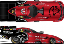 The cars driven by Matt Hagan and Leah Pruett will sport Hellcat Redeye schemes in NHRA competition for the next two events.