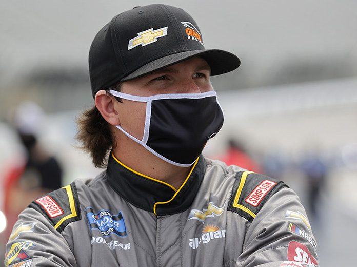 Sheldon Creed will start from the pole for Saturday's NASCAR Gander RV & Outdoors Truck Series race at Texas Motor Speedway. (Chris Graythen/Getty Images Photo)