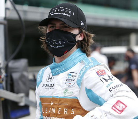 Colton Herta was fastest in NTT IndyCar Series practice Friday at Iowa Speedway. (IndyCar Photo)