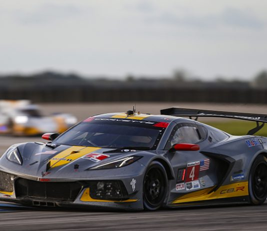 Oliver Gavin and Tommy Milner gave Corvette Racing it's 101st victory Saturday at Sebring Int'l Raceway. (IMSA Photo)