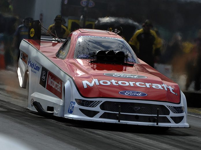 Bob Tasca III was the top qualifier in the Funny Car class for the Lucas Oil NHRA Summernationals at Lucas Oil Raceway. (Shawn Crose Photo)